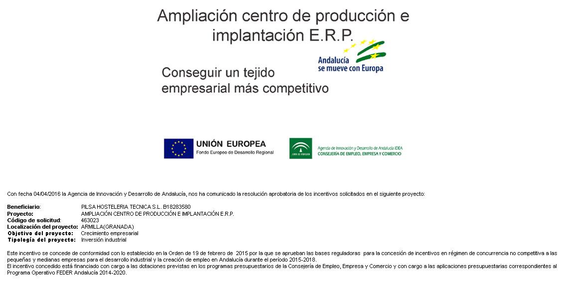 Ampliación Centro de Produccion e Implantación E.R.P